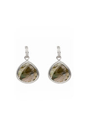 Huggie Faceted Labradorite Earrings 20mm