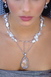 Jumbo Clear Quartz Necklace