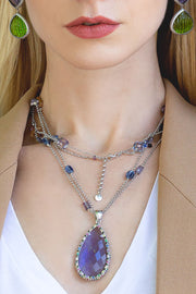 Jumbo Iolite Quartz Necklace