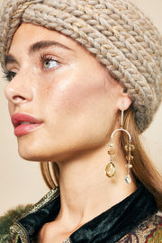 Semiprecious Stone Statement Earrings