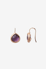Purple Quartz Miniature Earrings 10mm
