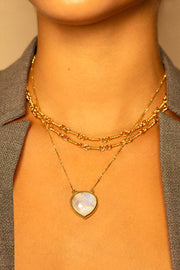 Moonstone pendant Necklace 20mm