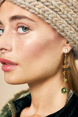 Semiprecious Stones Statement Earring