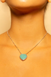 Peruvian Opal pendant necklace 20mm