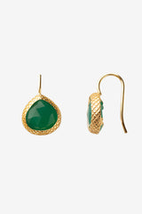 Green Onyx Miniature French Wire Earrings 10mm