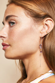 Rose De France Amethyst Stone Earrings