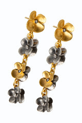 Flower Post Elongated Earrings