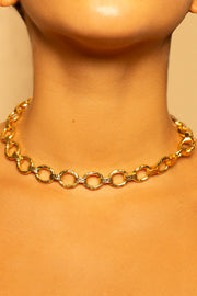 Hand Harmed Oval Links Necklace