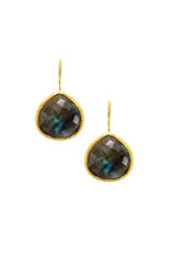 Labradorite Stone French Wire Earrings 20mm
