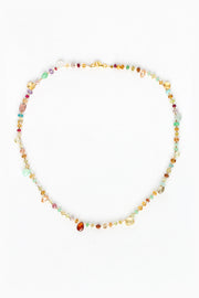 Multi Semiprecious Stone Necklace