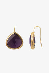 Purple Quartz French Wire Earrings 20mm