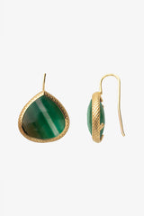 Watermelon Green Quartz French Wire Earrings 20mm