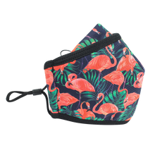Load image into Gallery viewer, 3 Layers - Flamingo - Adults- Nose Flap - Adjustable Straps.