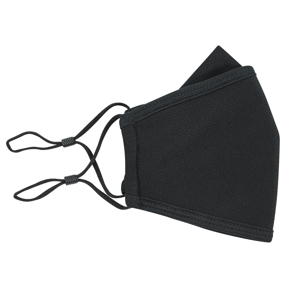Black -  Adults - Nose Flap -  3 layers Cloth Mask. Adjustable Straps.