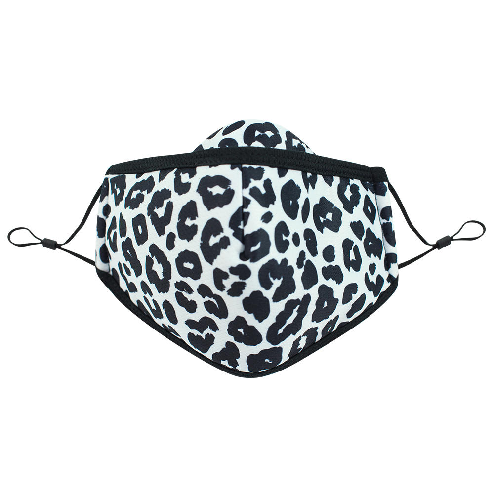 Leopard - Adults - Nose Flap - 3 layers Cloth Mask. Adjustable Straps.