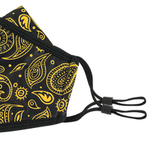 Load image into Gallery viewer, 3 Layers - Yellow Black Mussel - Adults - Nose Flap - Adjustable Straps