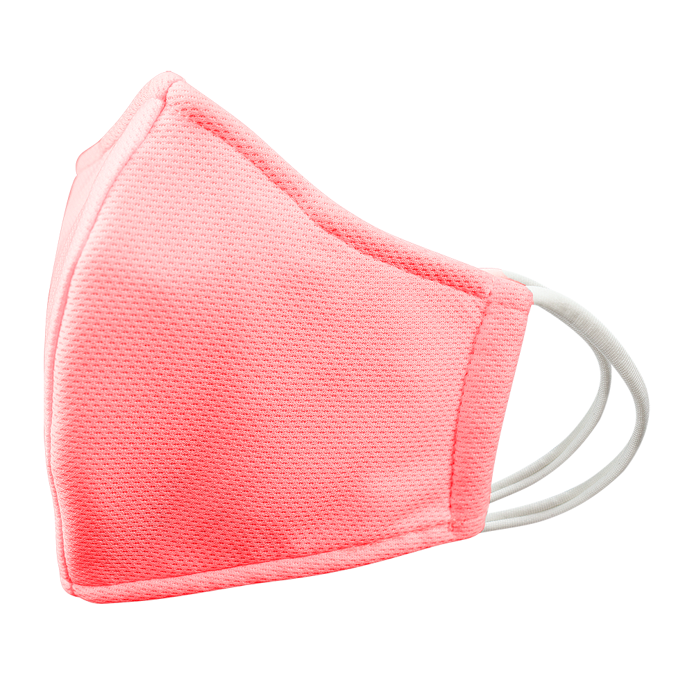 Closeouts - KIDS - Nose Wire - PINK - 3 layers Cloth Mask. Non- Adjustable Straps.