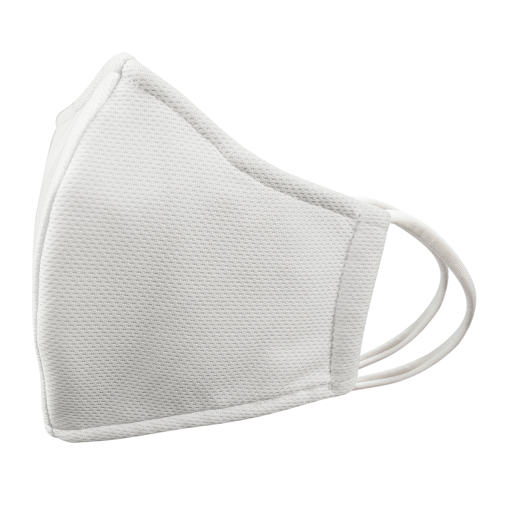 Closeouts - Adult - Nose Wire - WHITE - 3 layers Cloth Mask. Non- Adjustable Straps.