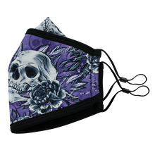 Load image into Gallery viewer, 3 Layers - Skull Flower Style 5- Adults- Nose Flap - Adjustable Straps.