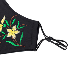 Load image into Gallery viewer, 3 Layers - Embroidery Style 5 - Adults- Nose Wire - Adjustable Straps.