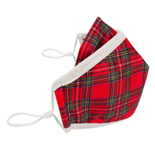 Load image into Gallery viewer, 4 Layers - Plaid - Adults- Nose Flap/Nose wire/Filter pocket - Adjustable Straps.