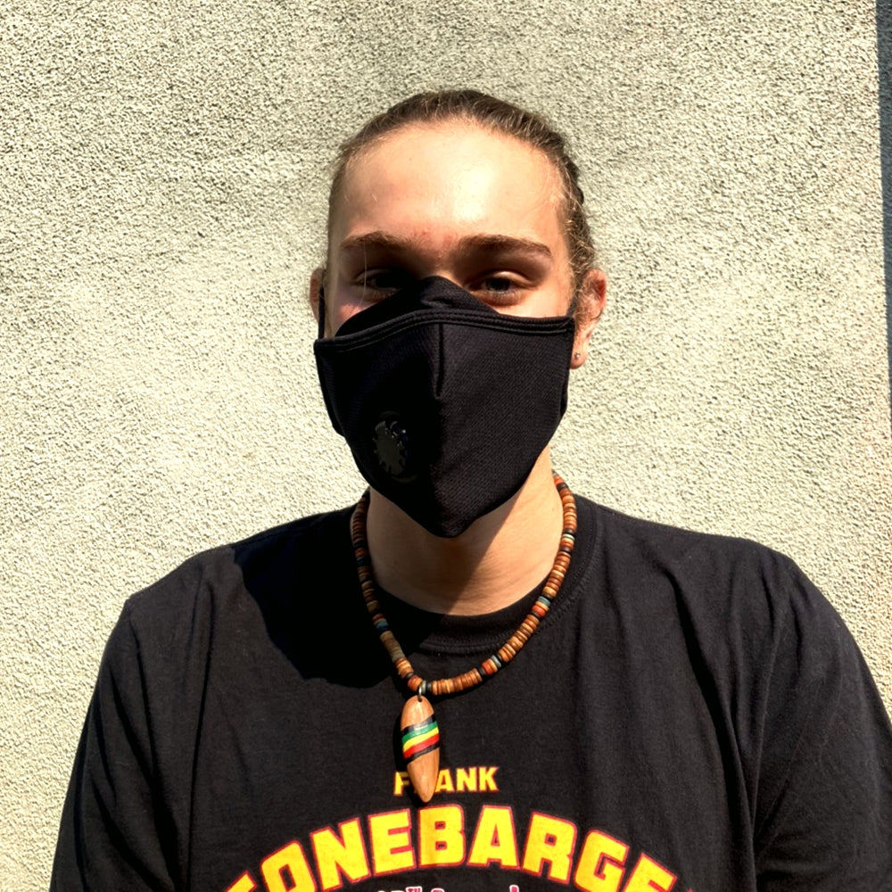 With Valve and Filter Pocket - Adults - Nose Flap -  3 layers Cloth Mask. Adjustable Straps.
