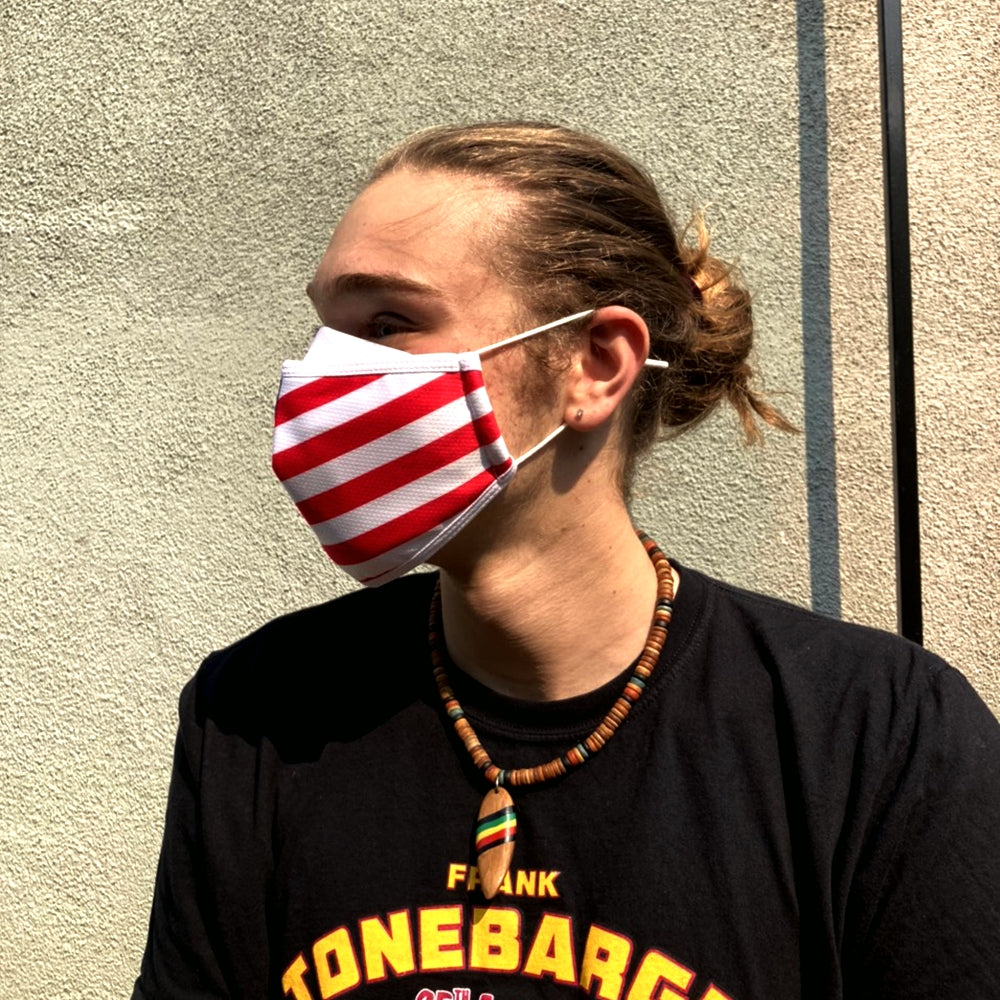 US Flag - Adults - Nose Flap - 3 layers Cloth Mask. Adjustable Straps.