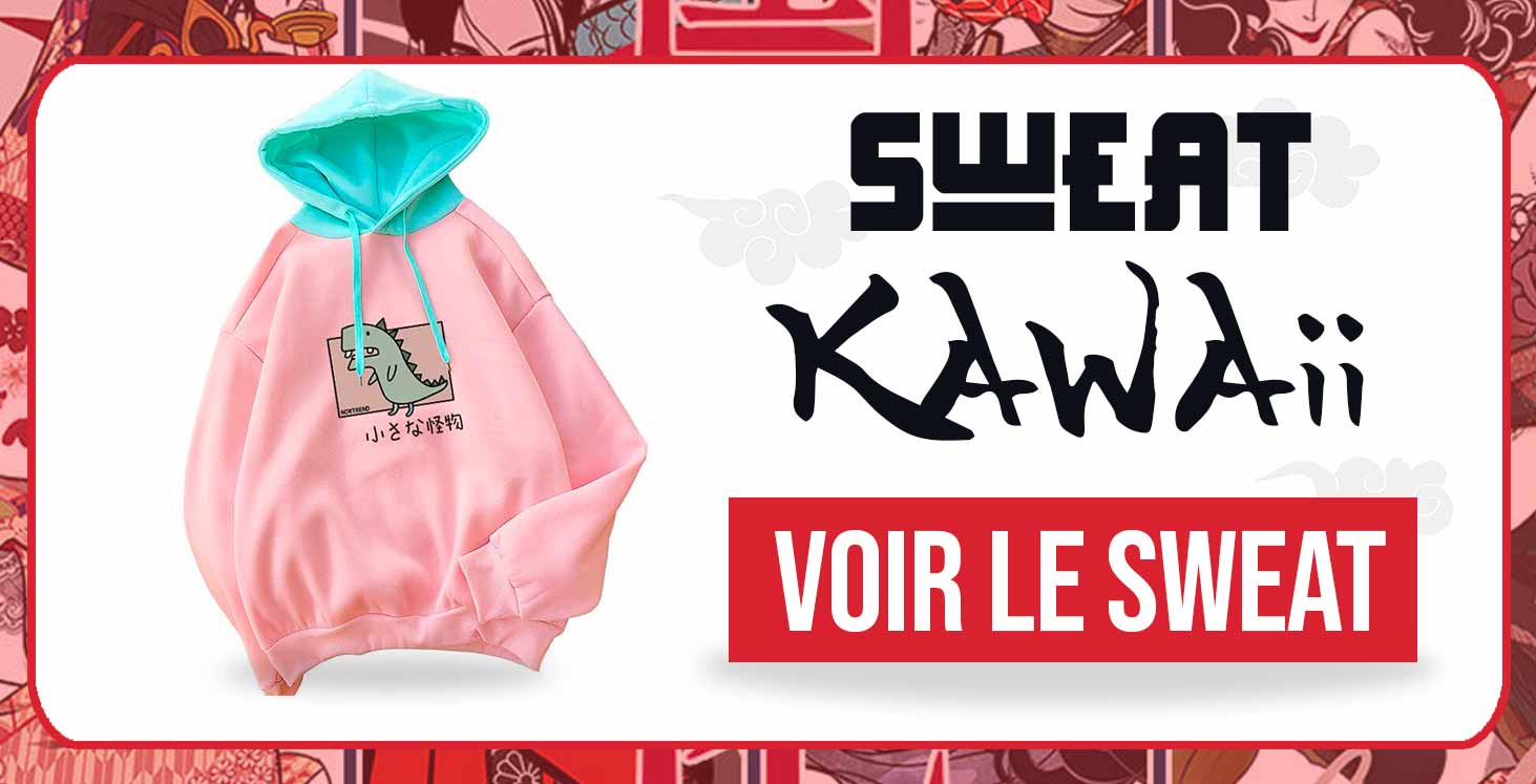 Sweat Japonais Dinosaure Kawaii