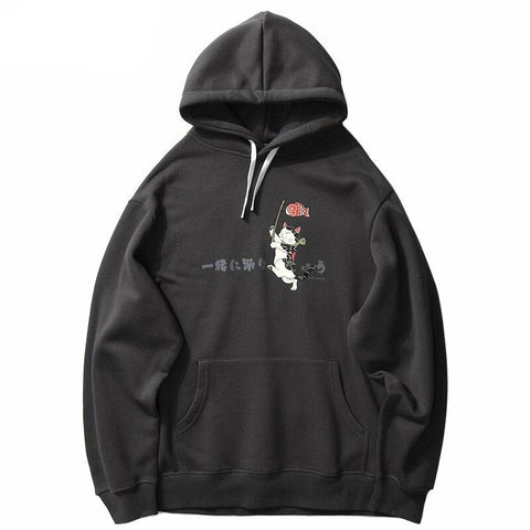 Hoodie Oversize Japon Chat