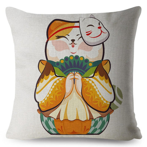 Coussin Motif Chat Design