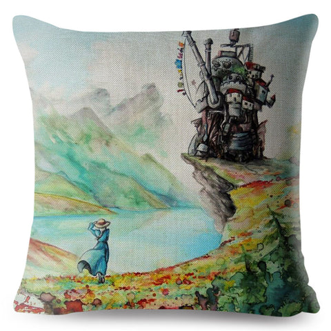 Coussin Long Manga Haru Le Chateau Ambulant