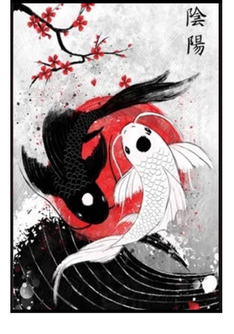Tableau Carpe Koi Chris Garver