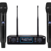 Load image into Gallery viewer, UHF 2 Channels Long Range Wireless Microphone System