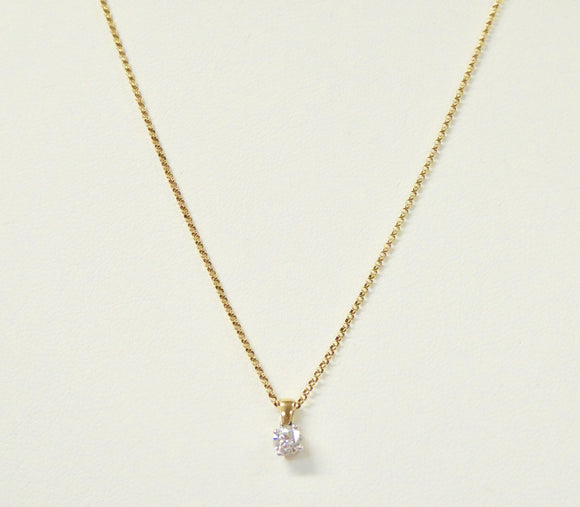 9CT 0.20CT CLAW SET DIAMOND NECKLACE