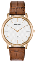 CITIZEN MEN'S ECO-DRIVE ROUND ROSE GOLD TONE WATCH