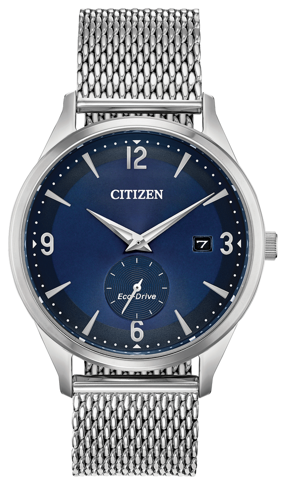 CITIZEN MEN'S ECO-DRIVE ROUND COBALT BLUE DIAL WATCH