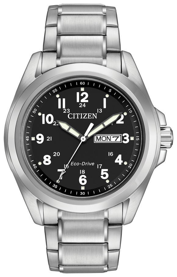 CITIZEN MEN'S ECO-DRIVE GARRISON ROUND WATCH