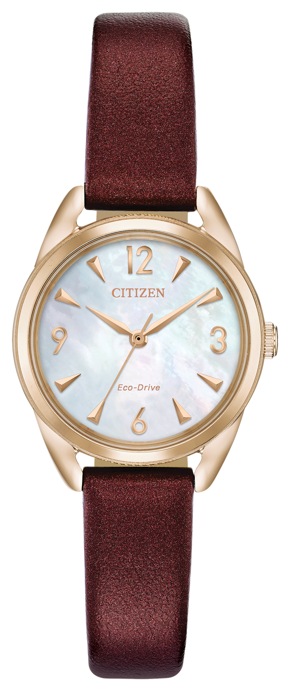 CITIZEN LADIES' ECO-DRIVE MOTHER OF PEARL WATCH