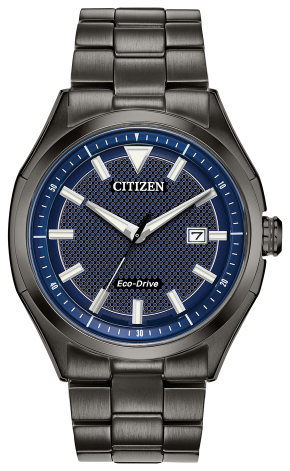 CITIZEN MEN'S ECO-DRIVE GUN METAL GREY ROUND WATCH