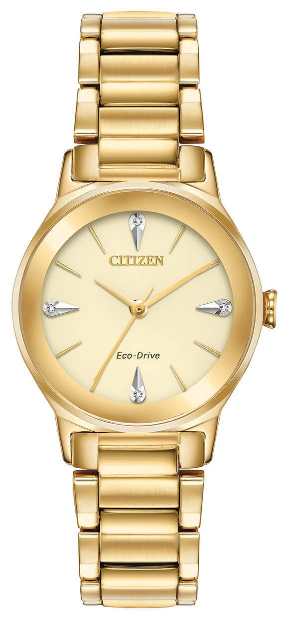 CITIZEN LADIES' ECO-DRIVE DIAMOND SET WATCH