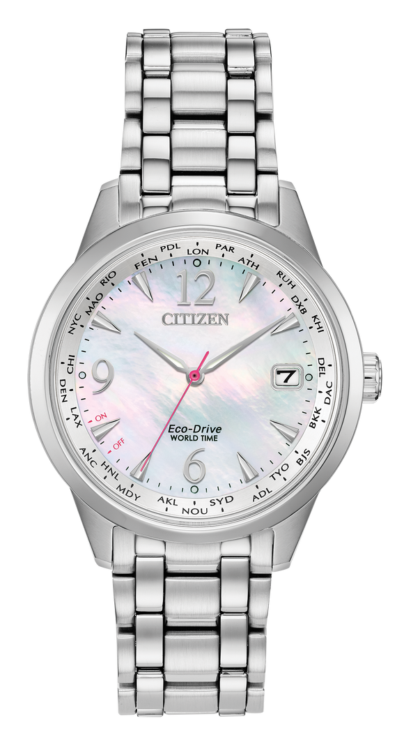 CITIZEN LADIES' ECO-DRIVE WORLD TIME WATCH