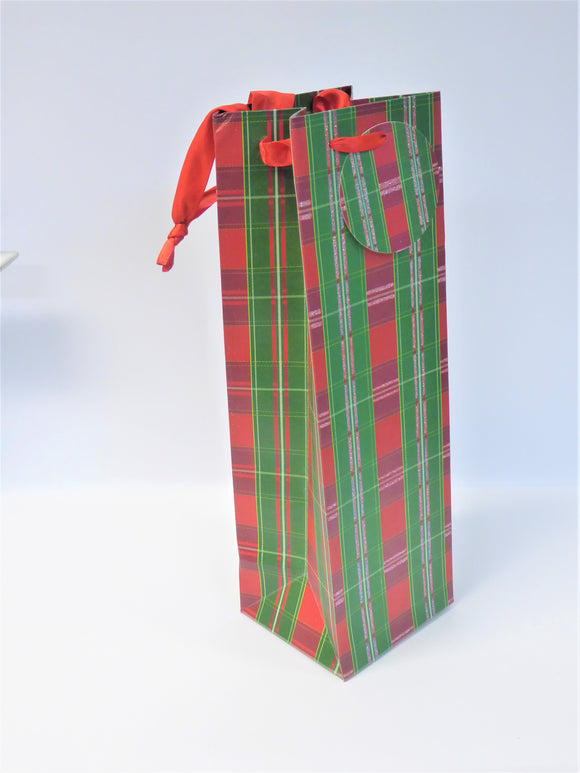 GIFT BAG - BOTTLE TARTAN