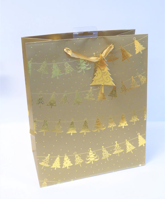 GIFT BAG - LARGE GOLD TREE GARLAND