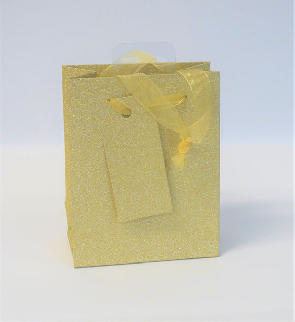 GIFT BAG - SMALL GOLD SPARKLE