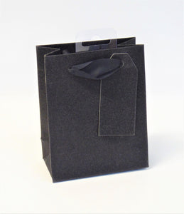 GIFT BAG - SMALL BLACK SPARKLE