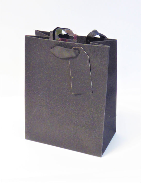 GIFT BAG - MEDIUM BLACK SPARKLE