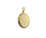 9CT GOLD LOCKET & CHAIN