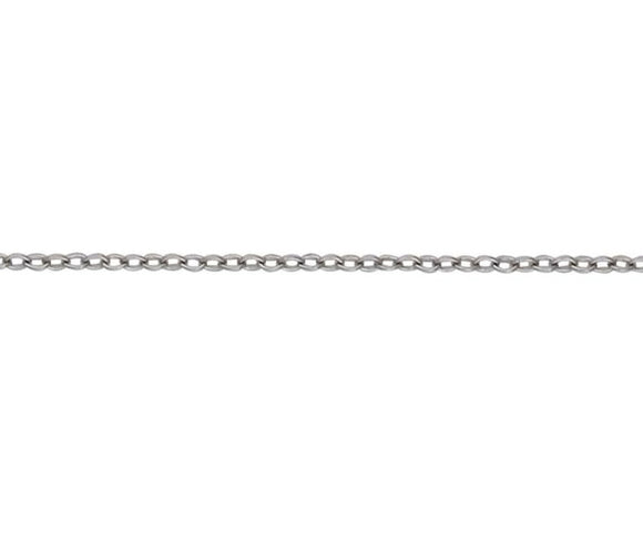 9CT WHITE GOLD TRACE 15/23 CHAIN