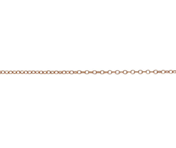 9CT ROSE GOLD TRACE 15/23 CHAIN