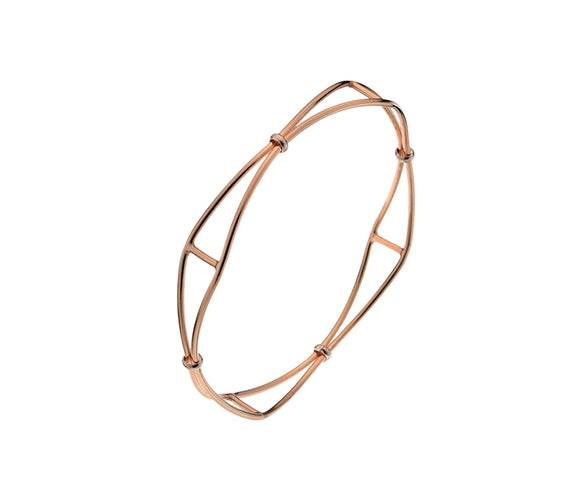 9CT ROSE GOLD BANGLE